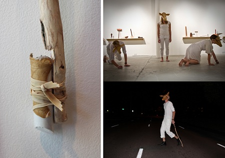 Unit of Work: Migration</i>, White Monarch indoor and outdoor documentation, Drawing performance