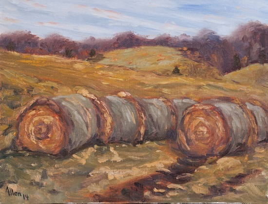 Late Fall Hay Bales