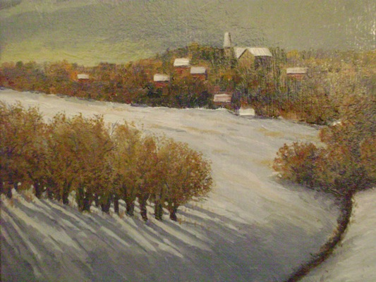 October Snow, (after Mike S. Ryan)