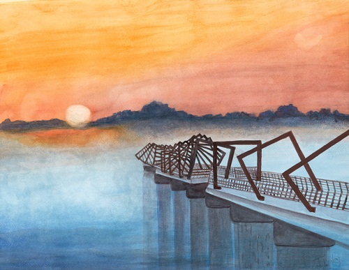 High Trestle Trail Bridge at Sunrise