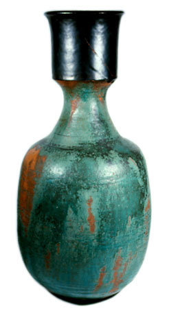 Large Green Clay Vase